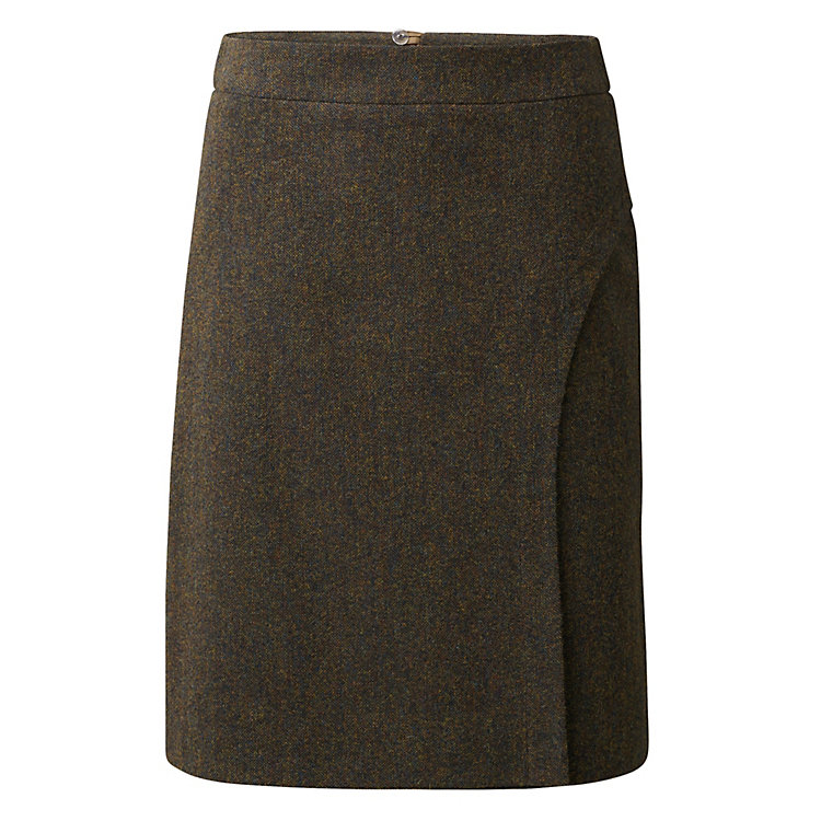 Wrap-Around Look Skirt, Brown melange