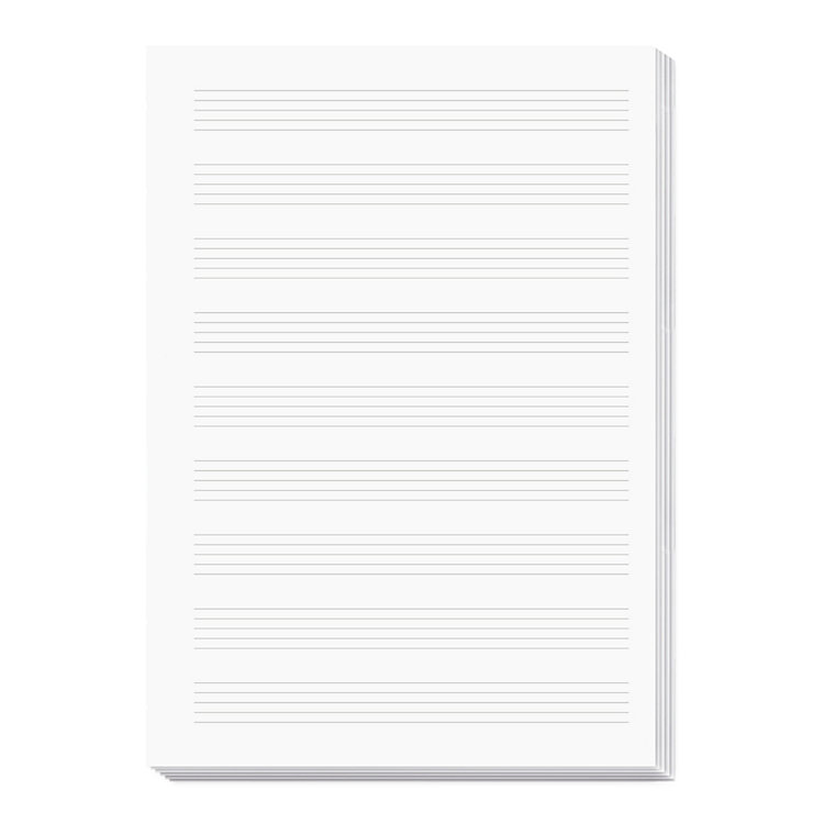 X47 Notebook Inserts A5 Music Paper
