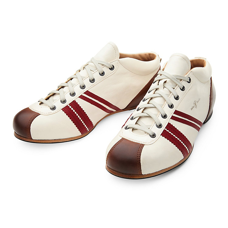 Zeha Leather Sport Shoe White-Red