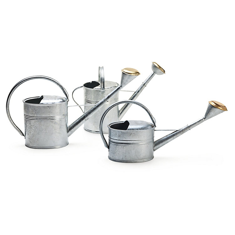 Zinc Coated Watering Can Oval, 8 l