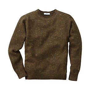 Inis Me 225 In Men S Donegal Sweater Olive Manufactum